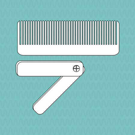 haircare: Hair salon  concept with icon design, vector illustration 10 eps graphic. Illustration