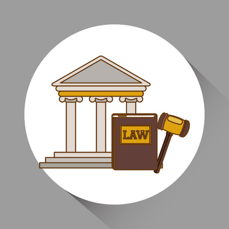 courthouse: Law and Justice concept with icon design, vector illustration 10 eps graphic Illustration
