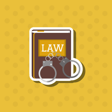 civil rights: Law and Justice concept with icon design, vector illustration 10 eps graphic Illustration