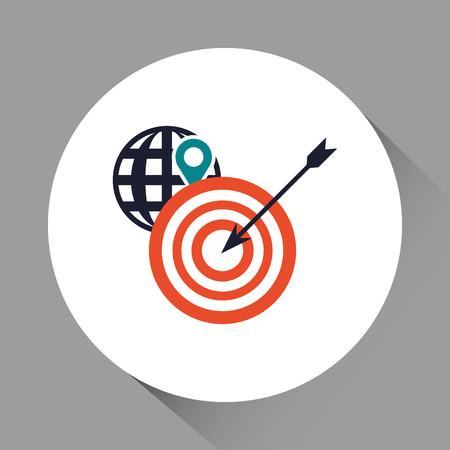 commerce communication: Digital Marketing concept with icon design, vector illustration 10 eps graphic. Illustration