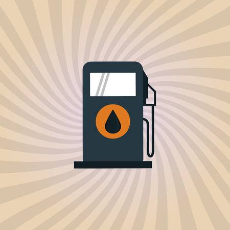 polluting: Oil industry concept with icon design, vector illustration 10 eps graphic.