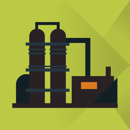 petrochemical plant: Oil industry concept with icon design, vector illustration 10 eps graphic.