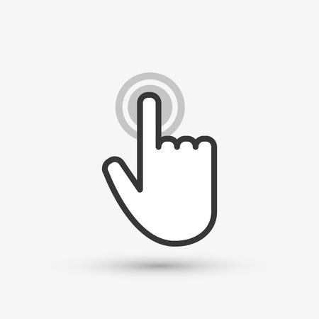 curseur notion avec l'icône de conception, illustration vectorielle 10 eps graphique.