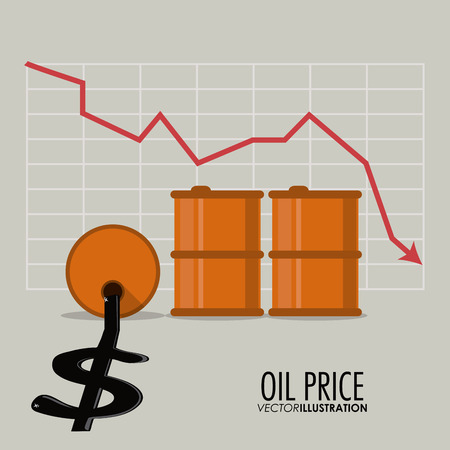 petrochemical: Oil price concept with icon design, vector illustration 10 eps graphic. Illustration