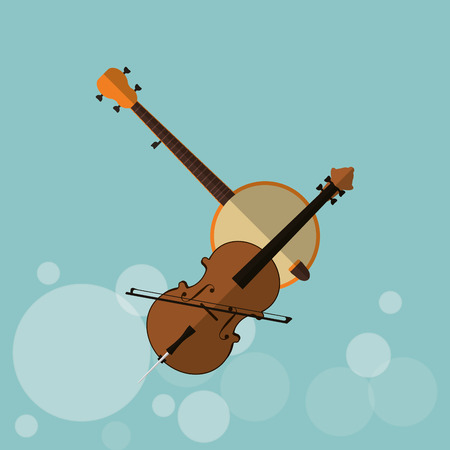 cellos: Music concept with icon design, vector illustration 10 eps graphic. Illustration