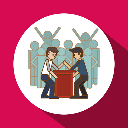 competitors: Winner concept with competition icon design, vector illustration 10 eps graphic. Illustration