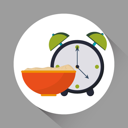 snack time: Breakfast concept with icon design, vector illustration 10 eps graphic. Illustration