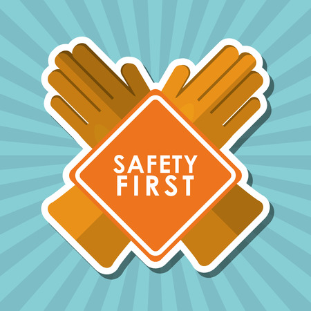 precautions: Safety concept with icon design, vector illustration 10 eps graphic