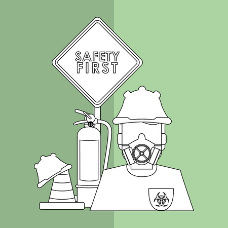 protected plant: Safety concept with icon design, vector illustration 10 eps graphic