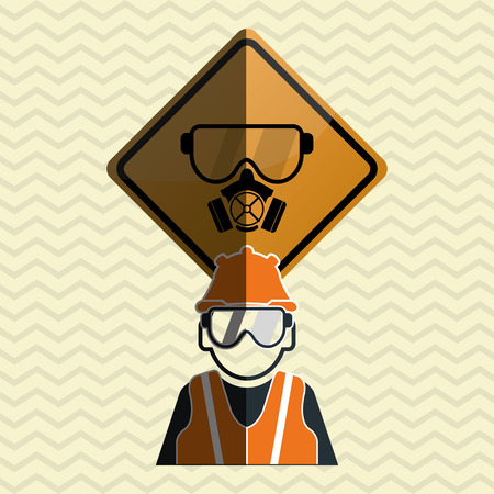 safety equipment: Safety concept with icon design, vector illustration 10 eps graphic