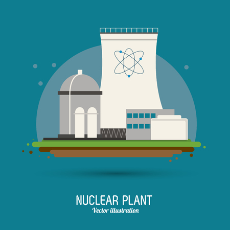 nuclear plant concept with icon design, vector illustration 10 eps graphic. Illustration