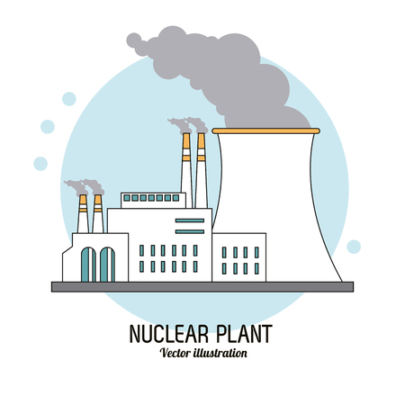nuclear plant: nuclear plant concept with icon design, vector illustration 10 eps graphic. Illustration