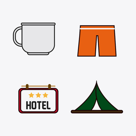 short trip: travel  concept with icon design, vector illustration 10 eps graphic. Illustration
