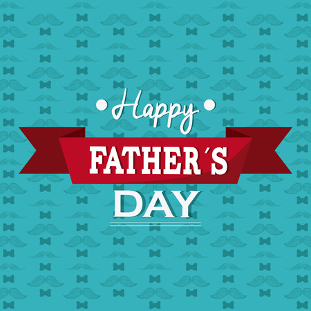happy fathers day card: Fathers day concept with icon design, vector illustration 10 eps graphic.