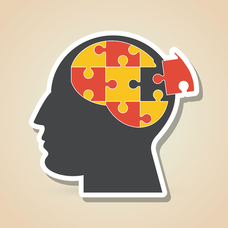 match head: Puzzle concept with icon design, vector illustration 10 eps graphic.