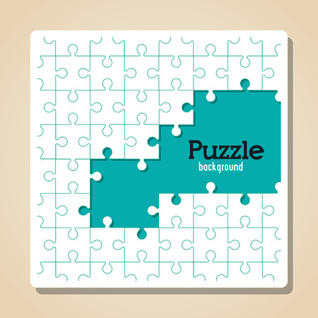 puzzle business: Puzzle concept with icon design, vector illustration 10 eps graphic.