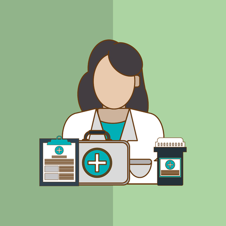 mentors: Doctor concept with icon design, vector illustration 10 eps graphic. Illustration