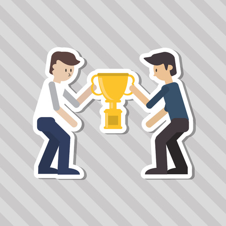 first job: Winner concept with competition icon design, vector illustration 10 eps graphic. Illustration