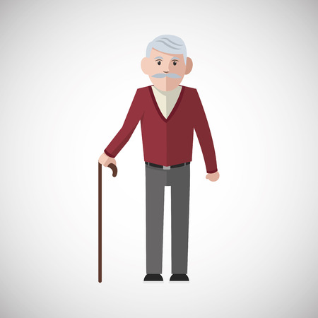 Grandparents concept with icon design, vector illustration 10 eps graphic.