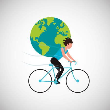 Bike el concepto con el diseño del icono, gráfico del ejemplo 10 EPS del vector.