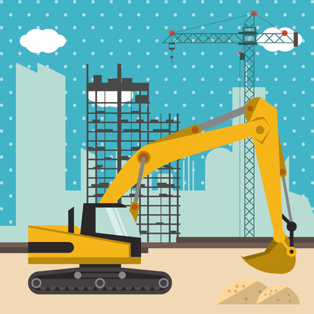 rebuilding: Under construction concept with icon design, vector illustration 10 eps graphic.