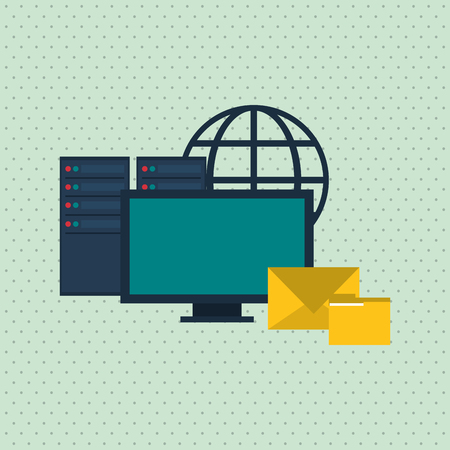secure files: Data center concept with icon design, vector illustration 10 eps graphic.