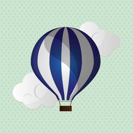 ballooning: hot air balloon concept with icon design