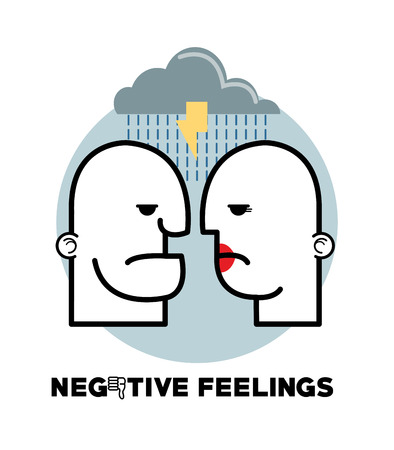negative graphic: Negative feeling concept with icon design, vector illustration 10 eps graphic.