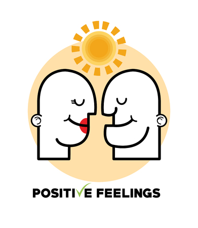 positive feeling: Positive feeling concept with icon design, vector illustration 10 eps graphic.