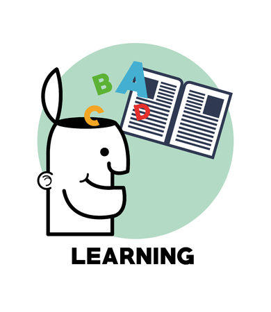 oncept: learning oncept with icon design, vector illustration 10 eps graphic. Illustration