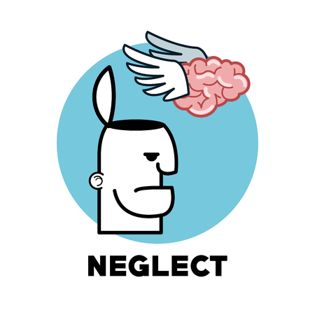 neglect: Neglect concept with icon design, vector illustration 10 eps graphic.