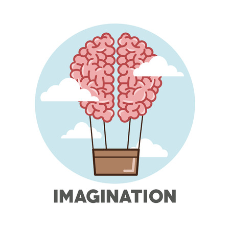 different thinking: imagination concept with icon design, vector illustration 10 eps graphic. Illustration