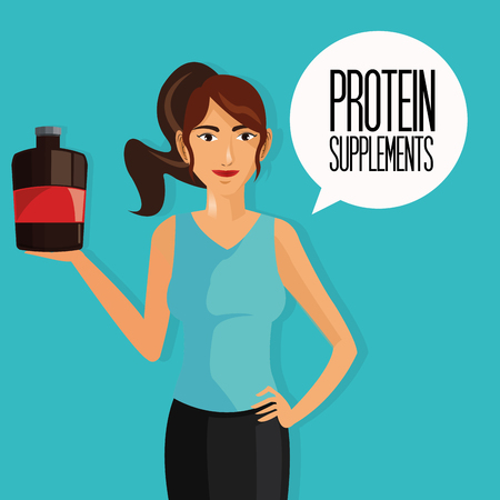 supplement: Protein supplement concept with icon design, vector illustration 10 eps graphic.