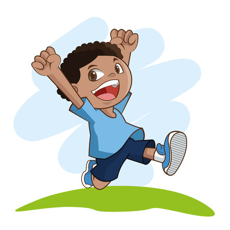 preschooler: Kids concept with icon design, vector illustration 10 eps graphic.