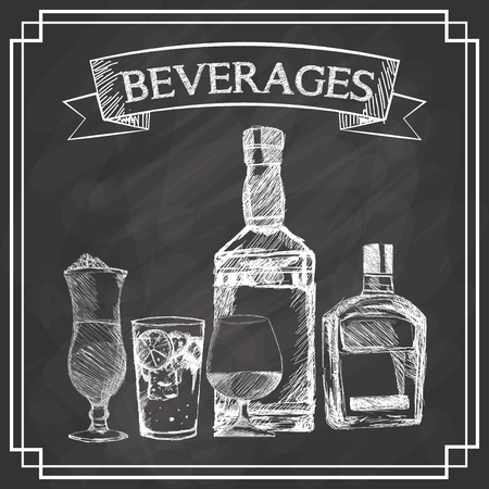 digitally concepts: Beverages concept with icon design, vector illustration 10 eps graphic. Illustration