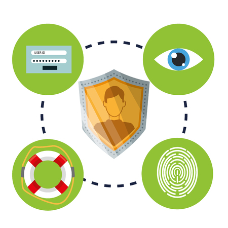 value system: security concept with icon design, vector illustration 10 eps graphic.
