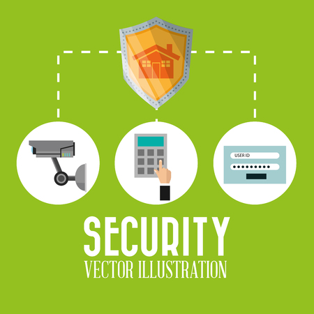 guard house: security concept with icon design, vector illustration 10 eps graphic.