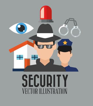 concept de sécurité avec la conception de l'icône, illustration vectorielle 10 graphique eps.