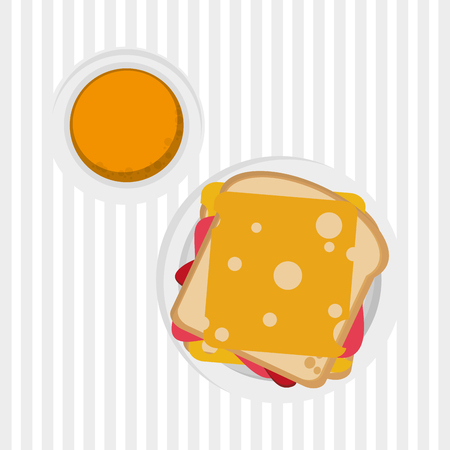food dish: breakfast  concept with icon design, vector illustration 10 eps graphic. Illustration