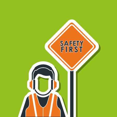 precautions: Industry security  concept with icon design, vector illustration 10 eps graphic.