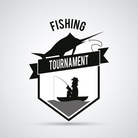 recreational fishermen: Fishing concept with icon design, vector illustration 10 eps graphic.