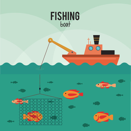 Fishing concept with icon design, vector illustration 10 eps graphic.