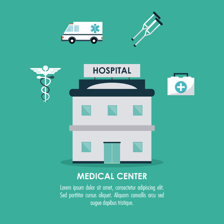 medical center: medical center concept with icon design, vector illustration 10 eps graphic.