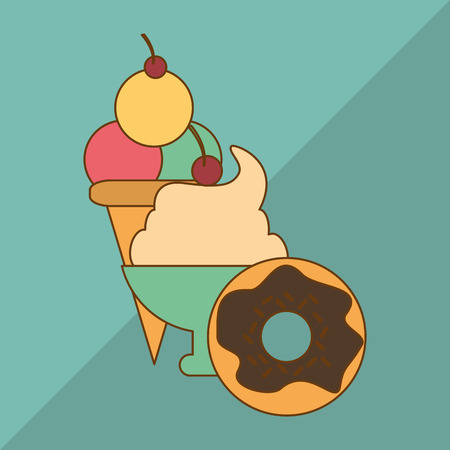 frozen treat: Food concept with icon design, vector illustration 10 eps graphic.