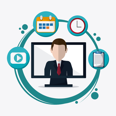 proffesional: webinar  concept with icon design, vector illustration 10 eps graphic. Illustration