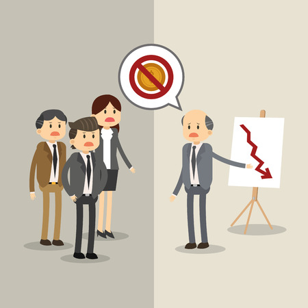 bad planning: Businesspeople concept with icon design, vector illustration 10 eps graphic. Illustration