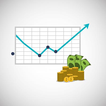 Concept de profit avec design d'icône, illustration vectorielle 10 eps graphique.