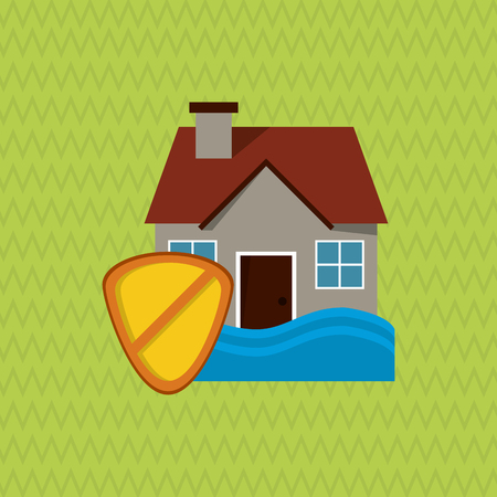 home destruction: Insurance concept with icon design, vector illustration 10 eps graphic.