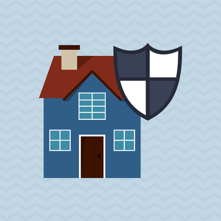 secured: Insurance concept with icon design, vector illustration 10 eps graphic.