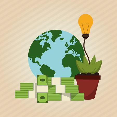 concept de profit avec l'icône de conception, illustration vectorielle 10 eps graphique.